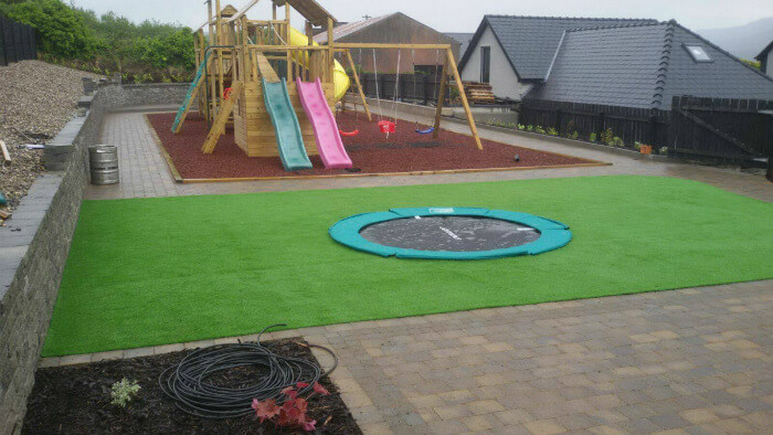 landscaped garden and artificial grass installation