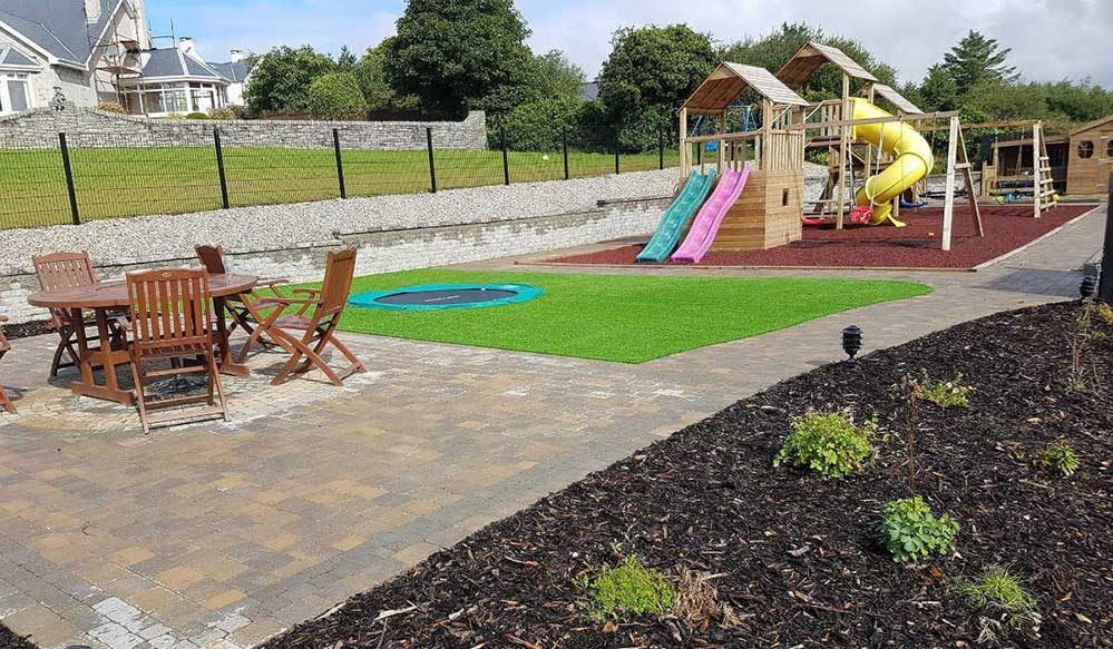 playground with artificial grass
