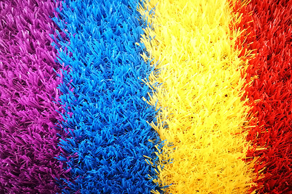 rainbow grass ideal for play areas