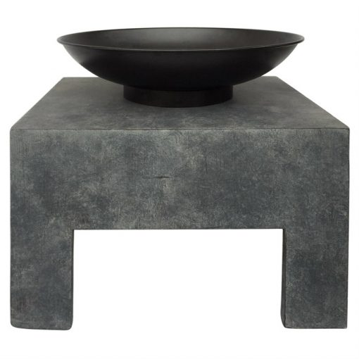 Metal Fire Bowl With Square Stand