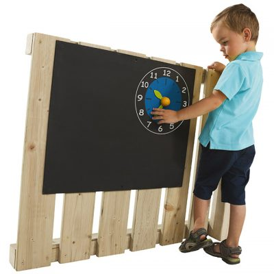 Blackboard with Clock