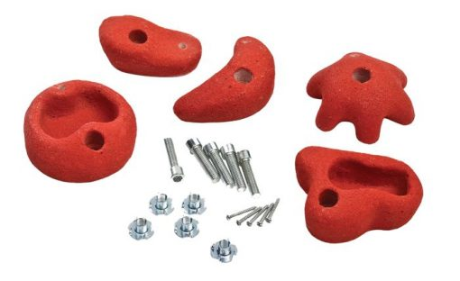 Climbing Stones 5 Pieces red