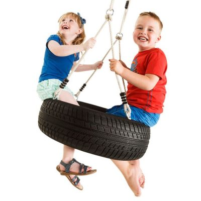 Horizontal Tyre Swing and rope set
