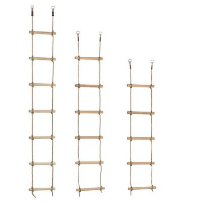 Wooden Rungs Rope Ladder 1.95m
